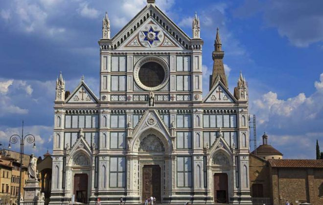 Firenze Basilica Santa Croce near Cooking school in Florence