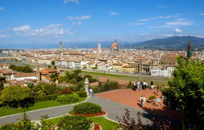 Firenze Piazzale Michelangelo near Cooking school in Florence