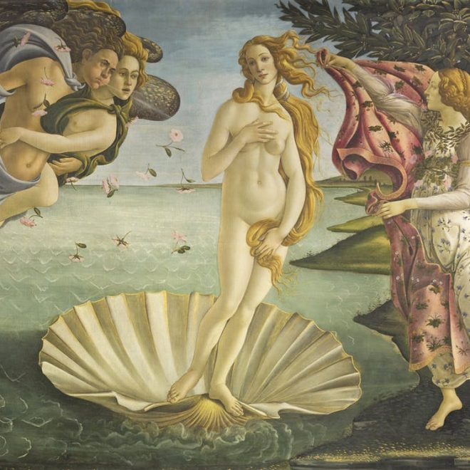 Venere del Botticelli near Cooking school in Florence