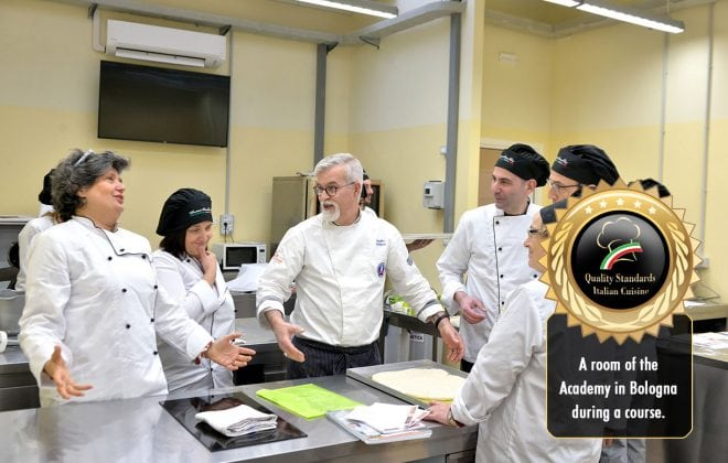 Cooking school in Bologna study room