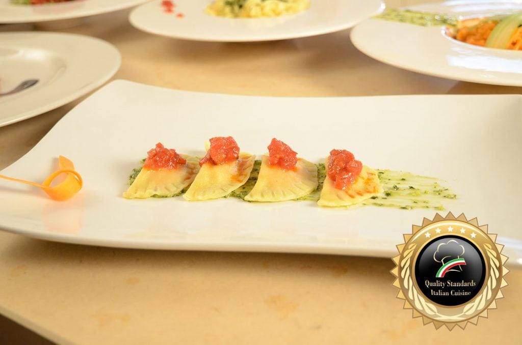 Ravioli with tomato  - Cooking School in Italy