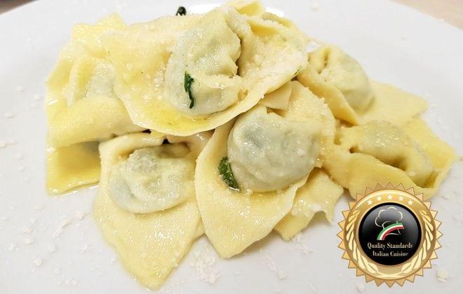 tortellini burro e salvia Pasta course in Italy